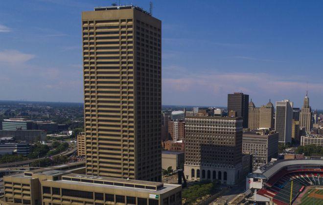 One Seneca Tower rises over the downtown skyline, Wednesday, Aug. 2, 2017.  (Derek Gee/Buffalo News)