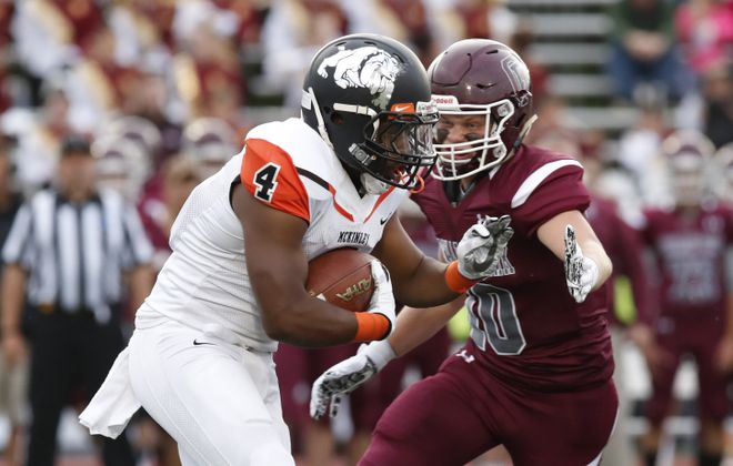 McKinley's Kaiyer Fields is used to having big games. He had another to start the 2017 season as he rushed for 313 yards and two touchdowns in the Macks' win at Orchard Park. (Harry Scull Jr./Buffalo News)
