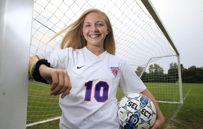 Medina girls soccer player Destiny Satkowski is the Prep Talk Female Athlete of the Week. (Harry Scull Jr./The Buffalo News)