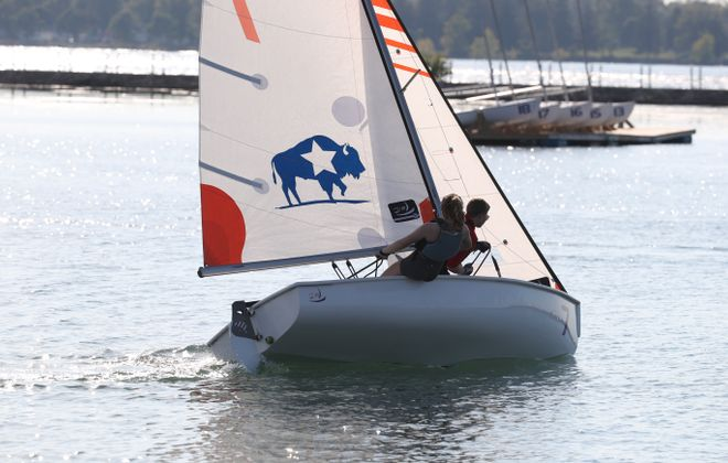 There are 55 high school athletes who take part in the sailing program out of the Buffalo Yacht Club.  (James P. McCoy/Buffalo News)
