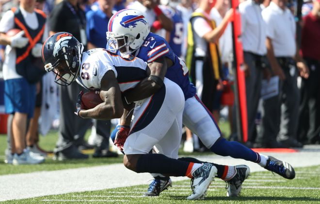 Buffalo Bills cornerback Rookie cornerback Tre'Davious White has gotten off to a great start for the Bills, but faces a big test in Week Four. (James P. McCoy/Buffalo News)
