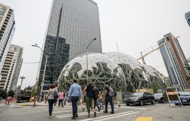 Amazon has 40,000 workers at its Seattle headquarters. With the company rejecting NYC as the site of a second headquarters, could SUNY Erie step in? (New York Times photo)