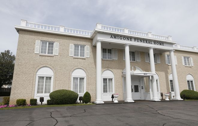 Neighbors continue to try to shut down Amigone Funeral Home's Sheridan Park crematory, which they blame for foul and toxic emissions, even after losing an initial round in court.  (Robert Kirkham/News file photo)