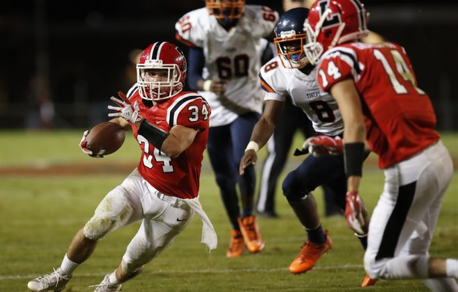 Andrew Hersey is off to a fine start at running back for the unbeaten Lancaster Legends. (Harry Scull Jr./Buffalo News)