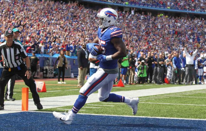 Charles Clay's visits to the end zone were too infrequent the past four years. (Buffalo News)