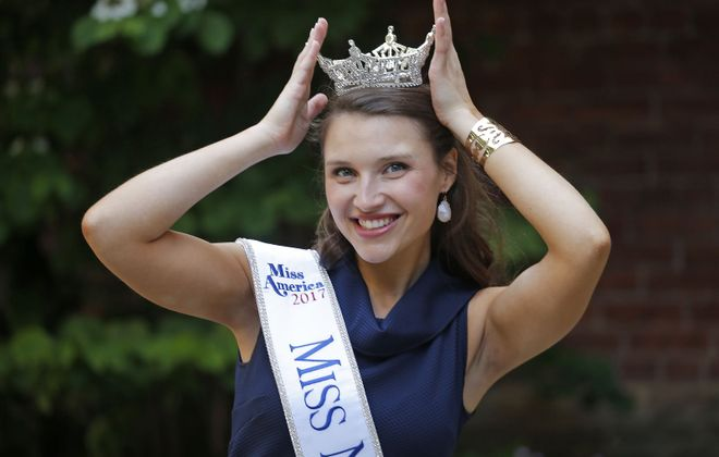 Gabrielle Walter will know by Sunday whether she will have the Miss America crown to go with her Miss New York State 2017 crown. (Robert Kirkham/Buffalo News)