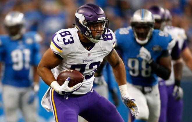 Tight end MyCole Pruitt joined the Buffalo Bills' practice squad on Monday. (Getty Images)
