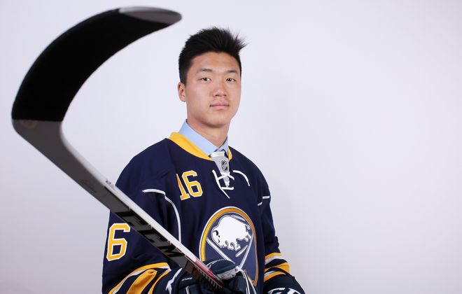 Cliff Pu, a third-round draft pick in 2016, has impressed the Sabres' new bosses. (Getty Images)