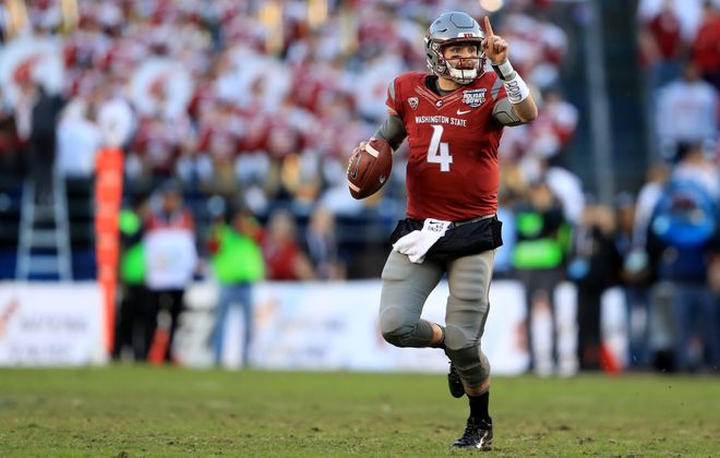 Quarterback Luke Falk of Washington State faces a tough matchup Friday night against No. 5 Southern Cal. (Getty Images)