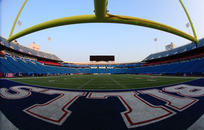 An empty New Era Field prior to the Buffalo Bills' season opener against the New York Jets. (Harry Scull Jr./Buffalo News)