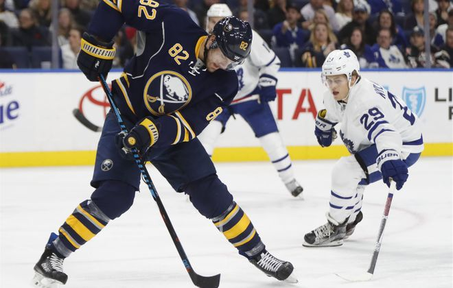 Marcus Foligno had a career-high 13 goals for the Sabres last season (Harry Scull Jr./Buffalo News file photo).