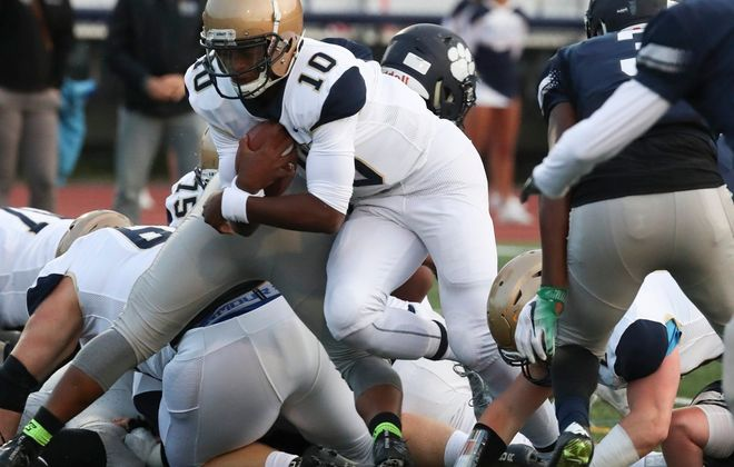 Canisius quarterback Jayce Johnson has verbally committed to play at Wagner next season.  (James P. McCoy/Buffalo News file photo)