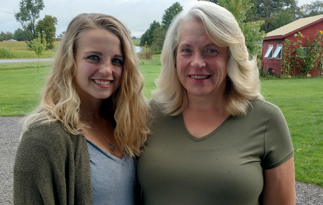 Stacie Bliss, left, and her mom, Patty, both of Arcade, will be Light the Night Buffalo ambassadors Sept. 22 in Delaware Park.