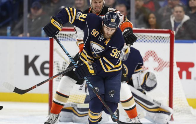 Ryan O'Reilly travels to practice via some unconventional means (Harry Scull Jr./Buffalo News file photo).