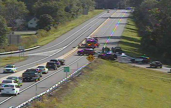 Pickup truck fire on Route 400 ramp causes delays