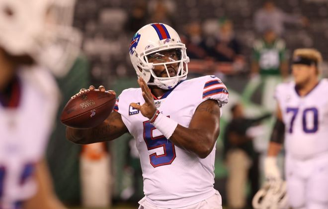 Tyrod Taylor's numbers equate to a relatively good passer rating. (News file photo)
