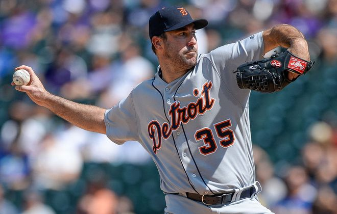 Justin Verlander was 5-2 with a 2.41 ERA in his 10 starts with Detroit after the All-Star break (Getty Images).