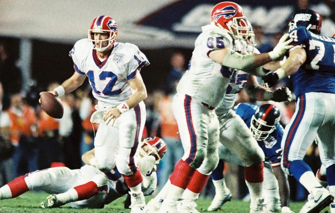 The Bills in Super Bowl XXV. (James P. McCoy/News file photo)