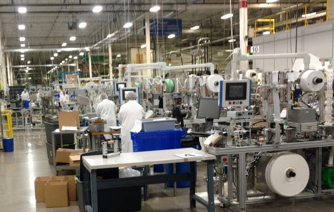 Manufacturing activity in the Buffalo Niagara region was solid during April, a new survey found. (David Robinson/ Buffalo News)