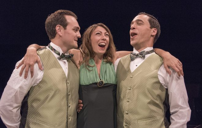 "Adiano Gatto, Kate LoConti and Ben Michael Moran are featured in the Irish Classical Theatre Company's production of Noel Coward's 1932 play ""Design for Living."""
