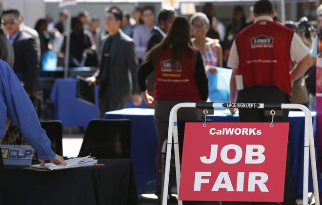 The Labor Department has seen a surge of activity on its website for filing unemployment claims. (Bloomberg photo)