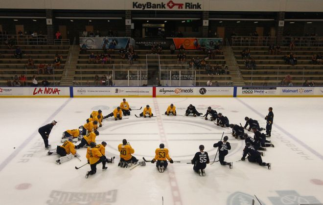 The Sabres will hit the ice for training camp at HarborCenter on Sept. 14. (John Hickey/News file photo)