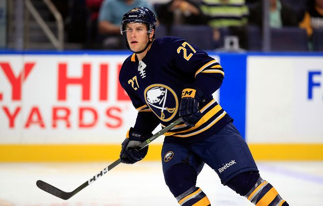 Taylor Fedun was recalled from the Amerks, but will be a healthy scratch for the Sabres. (Harry Scull Jr./News file photo)