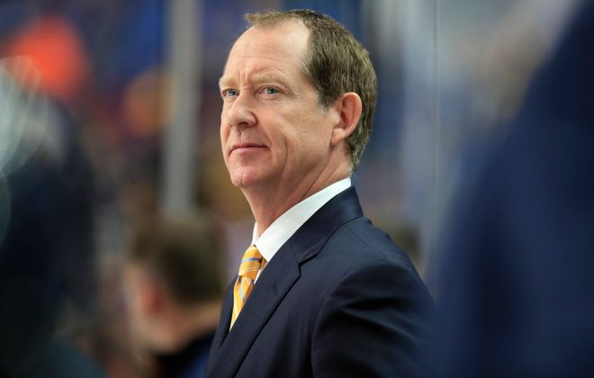 Although Phil Housley is a first-time NHL head coach, he's been in command with the Sabres. (Harry Scull Jr./Buffalo News)