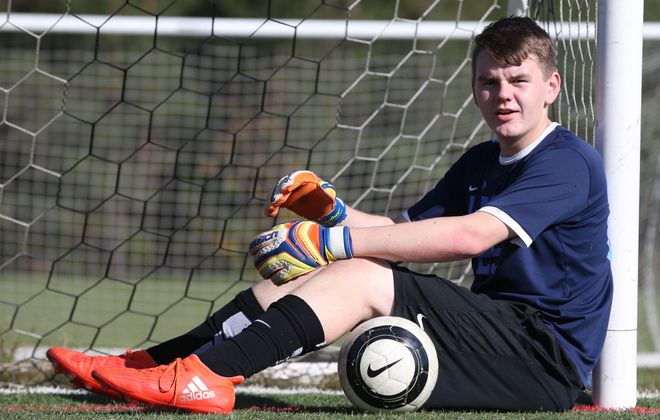 St. Mary's goalie Noah Winiarski is our Prep Talk Male Athlete of the Week. (James P. McCoy/Buffalo News)
