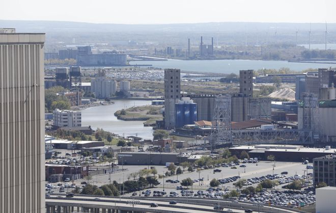 The view south of the Buffalo River from the downtown Buffalo.  (Derek Gee/ News file photo)