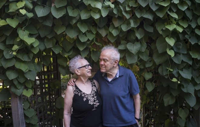 Drs. Alan and Judith Duchan, who have lived in their home on Jewett Parkway for decades, are getting ready to move into the new senior living facility at Gates Circle.   (Derek Gee/Buffalo News)