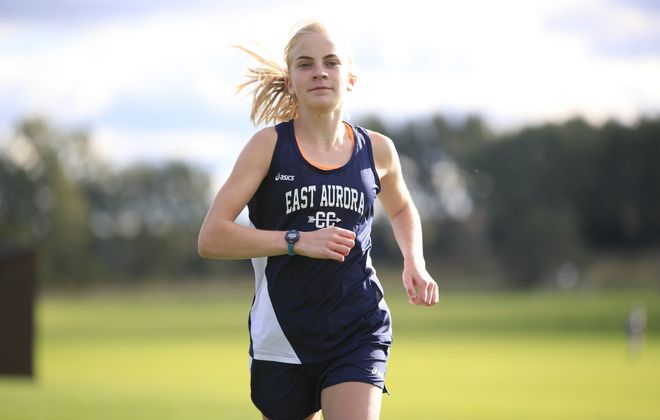 Megan McLaughlin of East Aurora cross country. (Harry Scull Jr./News file photo)