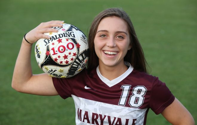 Lexi Aquilino scored her 100th goal last week.  (James P. McCoy / Buffalo News)