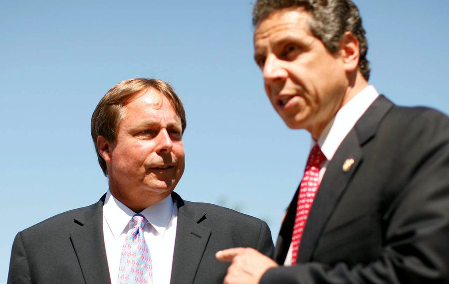 Sam Hoyt, left, has been a consistent supporter of Gov. Andrew M. Cuomo since Cuomo's first gubernatorial campaign in 2002. (Derek Gee/News file photo)