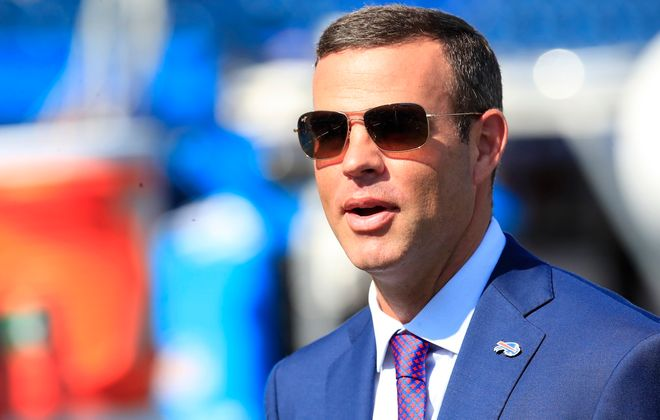 Bills General Manager Brandon Beane has added to the team's analytics department. (Harry Scull Jr./Buffalo News)