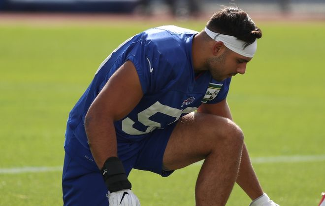 Bills linebacker Matt Milano made nearly $600,000 in performance-based pay for the 2019 season, the NFL announced. (James P. McCoy/News file photo)