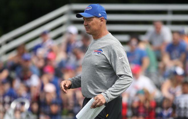 Now-former Bills offensive coordinator Rick Dennison. (James P. McCoy/News file photo)