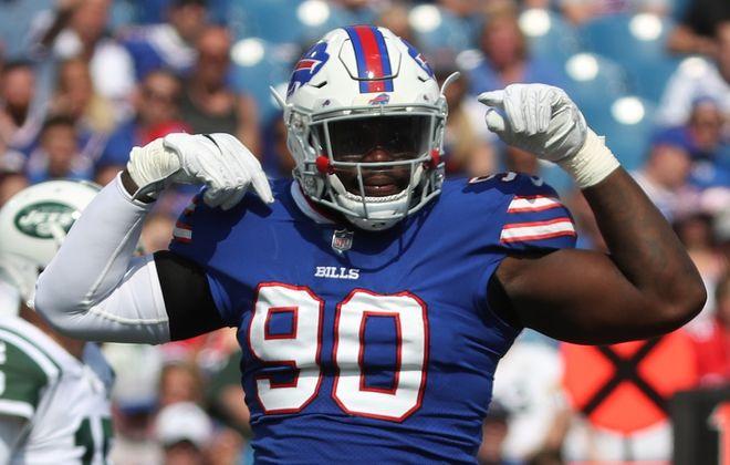Bills defensive end Shaq Lawson. (James P. McCoy/News file photo)