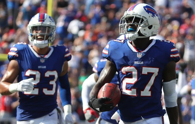 Cornerback Tre'Davious White is one of the young players the Buffalo Bills are building around.  (James P. McCoy/Buffalo News)