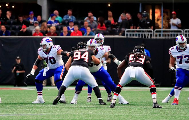 The Bills' offensive line has been in a state of flux. (Harry Scull Jr./ Buffalo News)