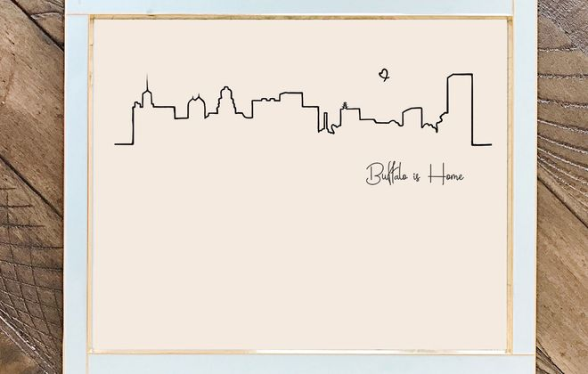 Buffalo is Home print by Mint Berry Market.