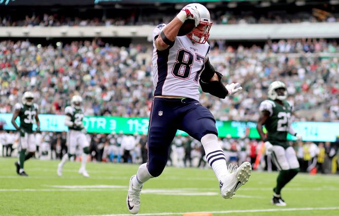 Patriots tight end Rob Gronkowski had a quiet game in Week 2. (Getty Images)