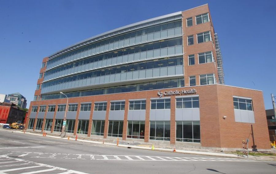 Catholic Health's administrative headquarters and training center in downtown Buffalo. (John Hickey/ News file photo)