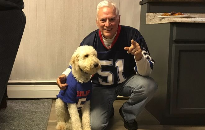 Dick DeGroat and his 1-1/2-year-old dog, Rudy.