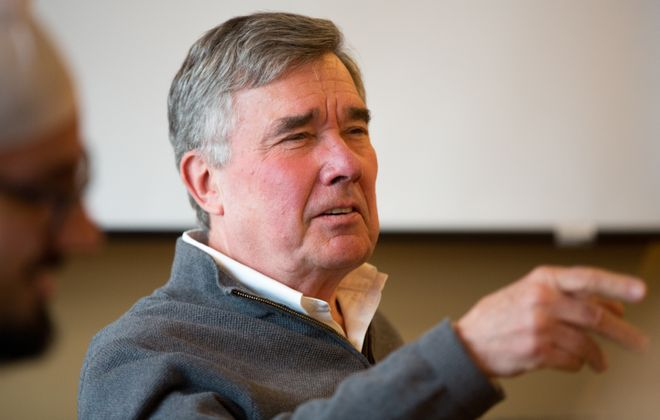 Richard Gil Kerlikowske, former Commissioner of U.S. Customs and Border Protection, speaks at a study group at Harvard University's John F. Kennedy School of Government in Cambridge, Mass. (Justin Saglio for the Buffalo News)