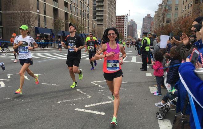 Melina Buck of Amherst will be running her eighth New York City Marathon on Nov. 5. (Courtesy Melina Buck)