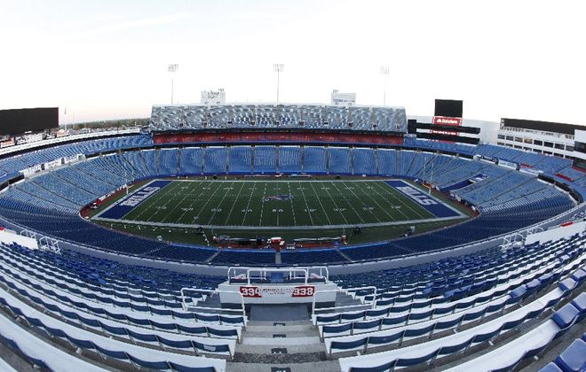 A empty New Era Field five hours prior to the Buffalo Bills and Tampa Bay Buccaneers at New Era Field on Sunday, Oct. 22, 2017. (Harry Scull Jr./ Buffalo News)