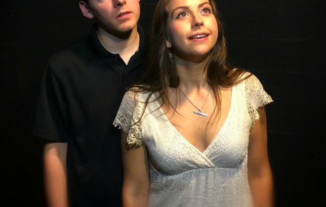 """Connor Graham and Emily Yancey are great in """"Stupid (Expletive) Bird at American Repertory Theatre."""