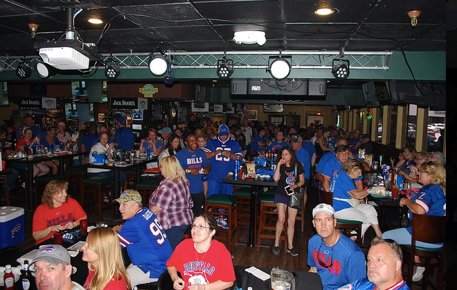 Bills fans have been meeting at O'Brien's Irish Pub in Brandon, Fla. for over 15 years. (Courtesy of Buffalo Bills Backers of Brandon)