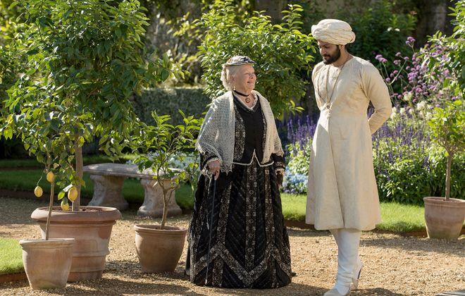 "Judi Dench (left) is Queen Victoria and Ali Fazal (right) is Abdul Karim in ""Victoria and Abdul."" (Peter Mountain, Focus Features)"